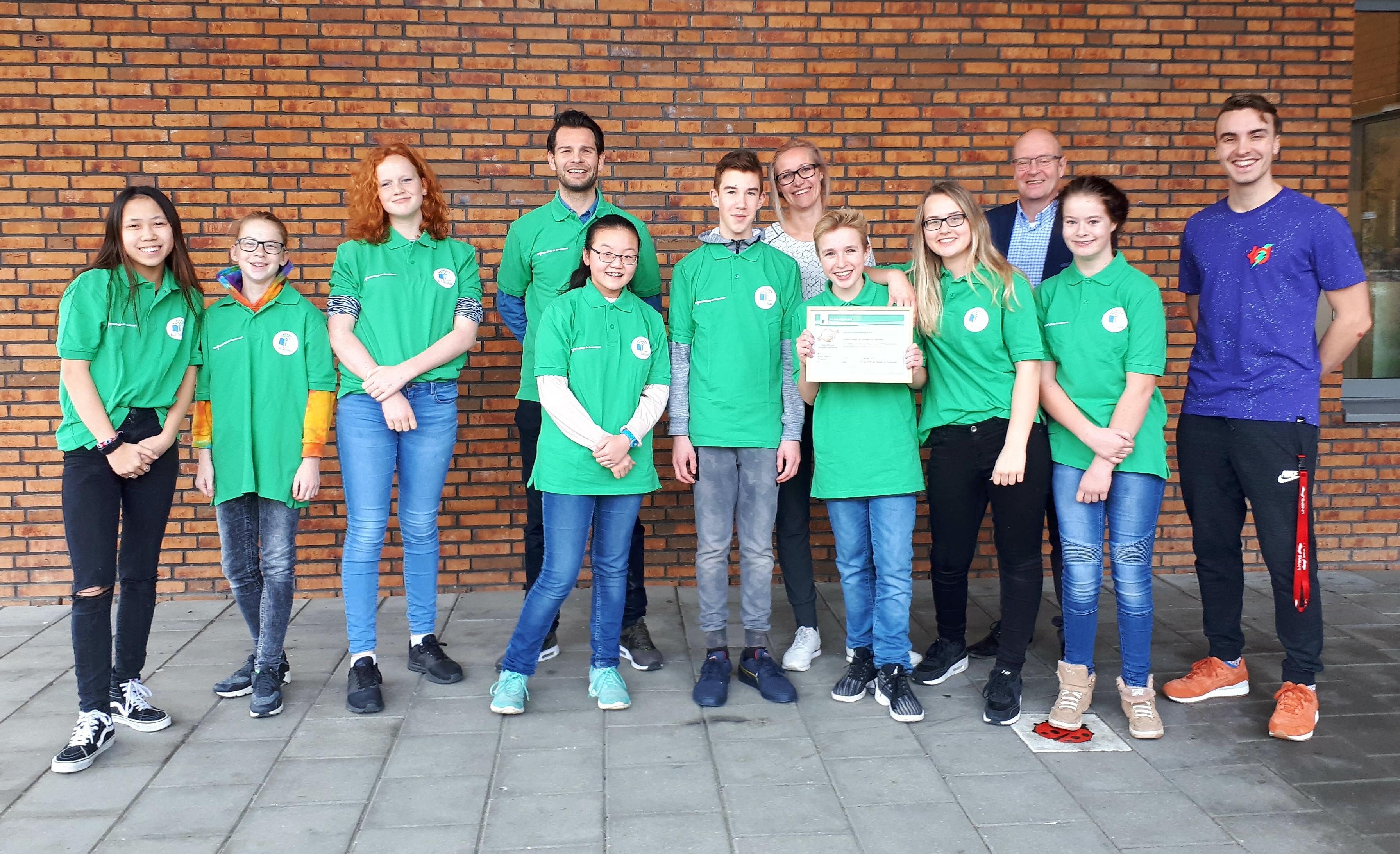 Bronzen Eco Schools certificaat voor Wellantcollege de Groenstrook