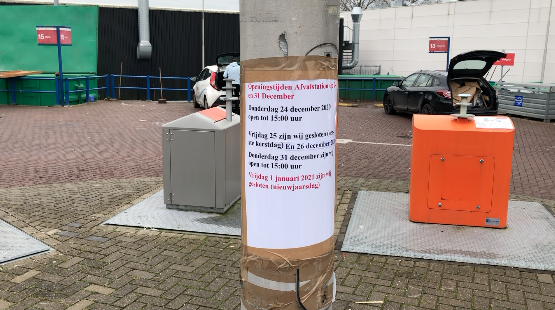 Afvalstation gesloten